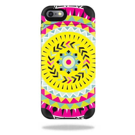 MightySkins Protective Vinyl Skin Decal for Mophie Juice Pack iPhone 6 Plus cover wrap sticker skins Pink (Aztec Pin)