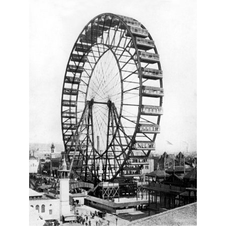 Worlds Fair Ferris Wheel - The Giant Ferris Wheel At The Chicago WorldS Fair In 1893 History
