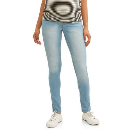 95ea5d05b9eeb Oh! Mamma - Maternity Demi-Panel Super Soft Skinny Jeans - Available in Plus  Sizes - Walmart.com