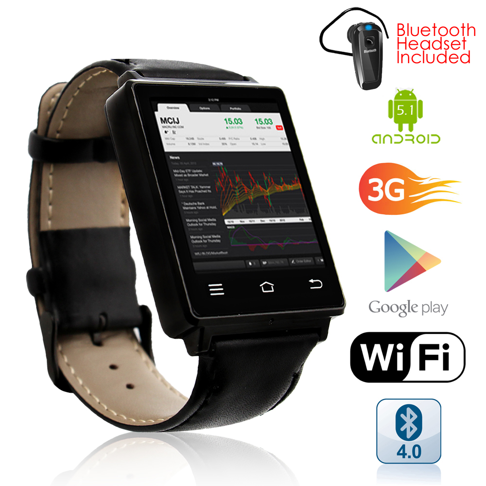 inDigi Premier 3G GSM Unlocked Android 5.1 OS SmartWatch ...