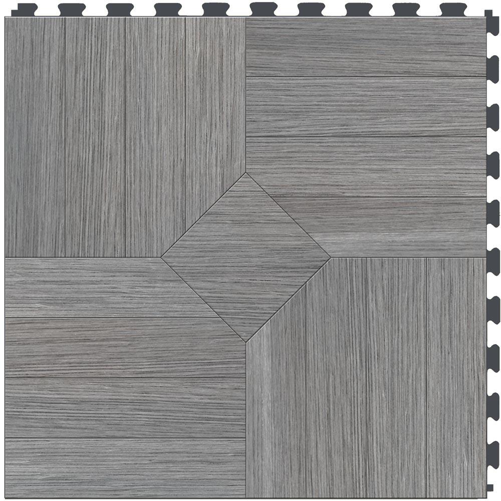 "ITtile - Parquet Driftwood 20"" x 20"" 5.5mm, 6 tiles/carton 16.70sqft"