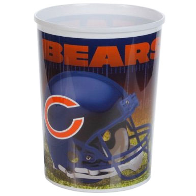 Chicago Bears Plastic Wastebasket