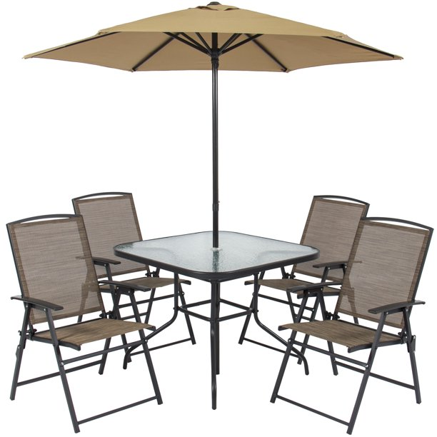 Best Choice Products 6-Piece Outdoor Folding Patio Dining Set w