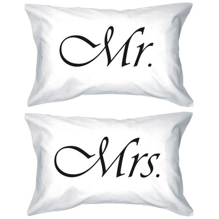 Mr and Mrs Couple Pillowcases Classy Matching Pillow Covers Gifts for Newlyweds - Mr And Mrs Pillow