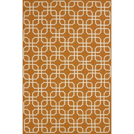 United Weavers Fiona Perth Contemporary Orange Woven Polypropylene Indoor Outdoor Area Rug