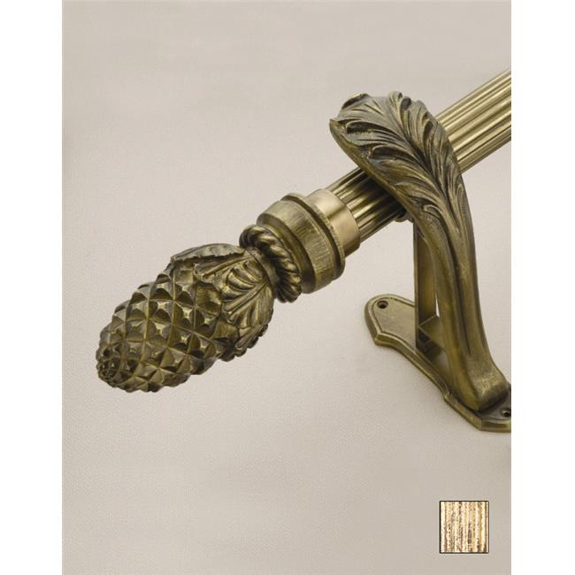 WinarT USA 8. 1073. 45. 13. 240 Palas 1073 Curtain Rod Set - 1. 75 inch - Pheonix Gold - 94 inch