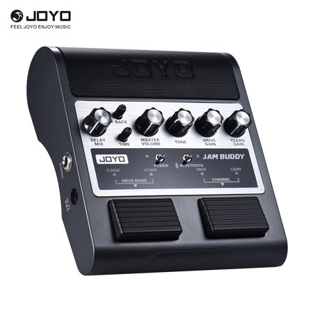 JOYO JAM BUDDY Portable Rechargeable Bluetooth 4.0 Dual Channel 2 * 4W Pedal Style Guitar Amplifier Amp Speaker with Delay Overdrive Clean Effects Built-in Lithium