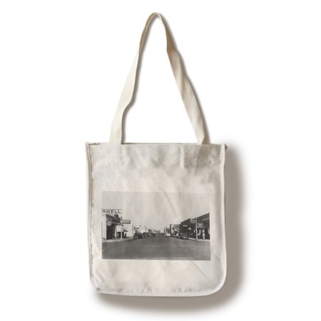 Kennewick  Washington   Street Scene  View Of A Shell Gas Station  100  Cotton Tote Bag   Reusable