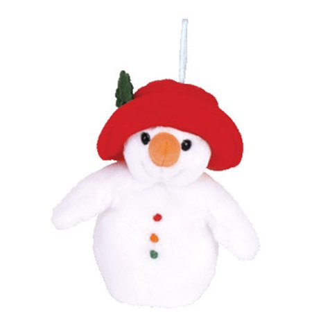 Chillin Snowman - TY Jingle Beanie Baby - CHILLIN the Snowman (4 inch)