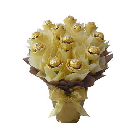 Fall Ferrero Rocher Chocolate Candy Bouquet