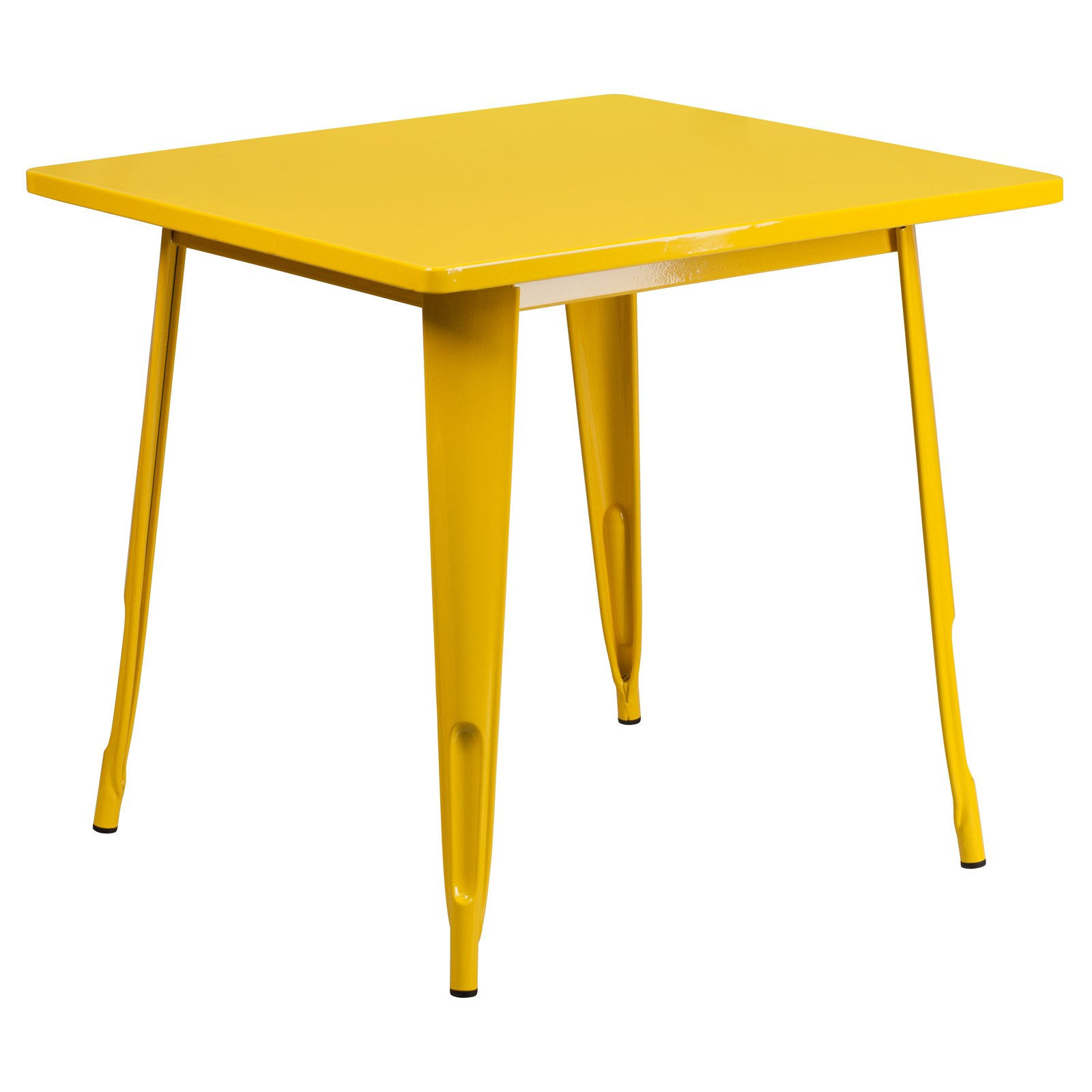 """Flash Furniture 31.5"""" Square Metal Indoor-Outdoor Table, Multiple Colors"""