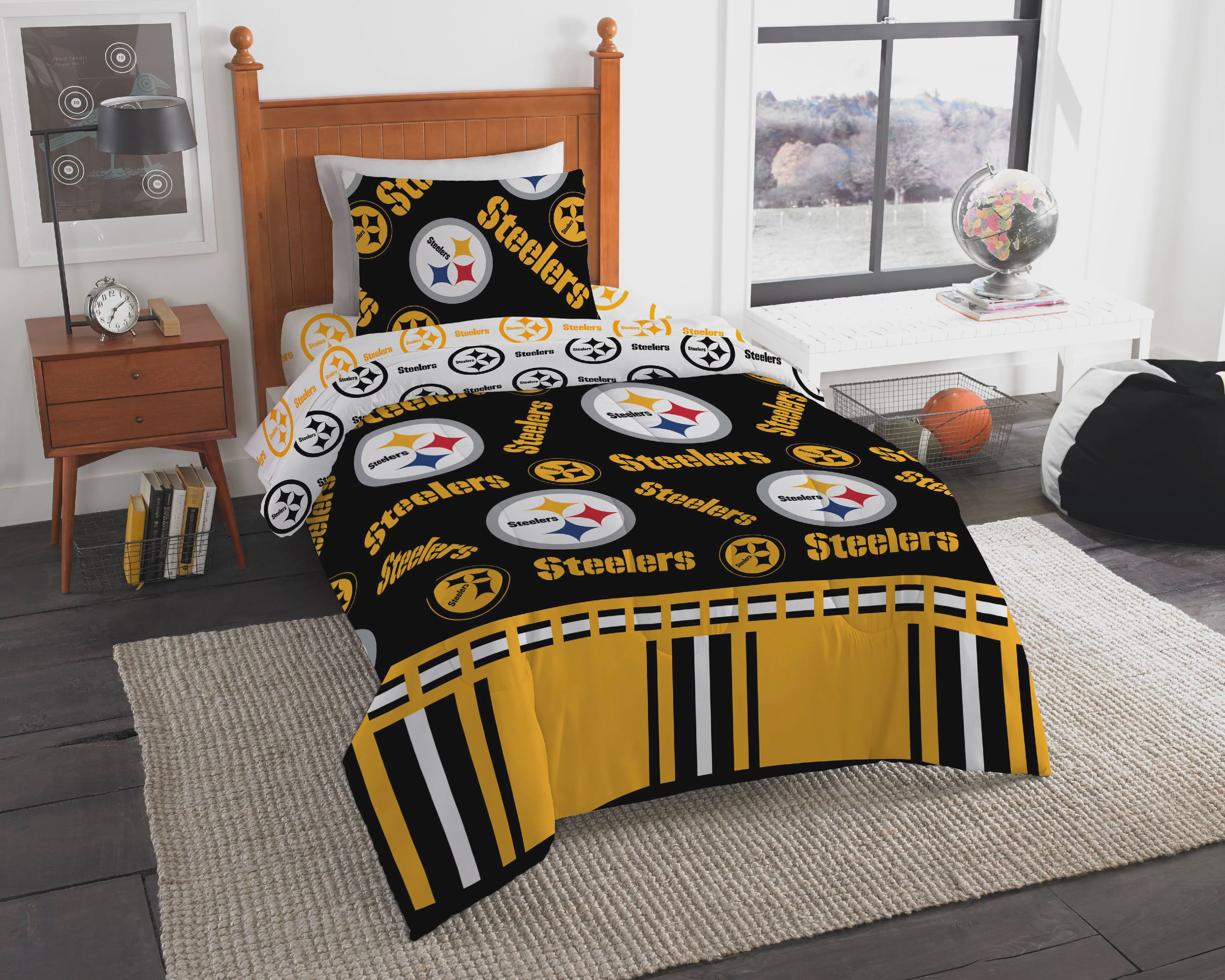 89df7d4f3 NFL Pittsburgh Steelers Bed In Bag Set - Walmart.com
