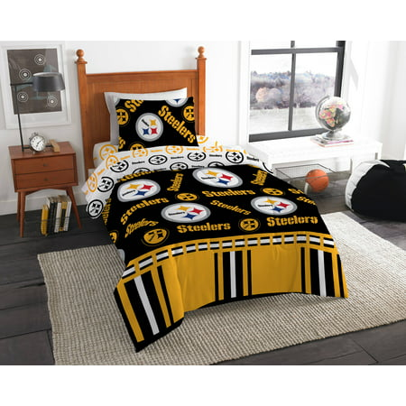NFL Pittsburgh Steelers Bed In Bag (Pittsburgh Steelers Zone Sign)