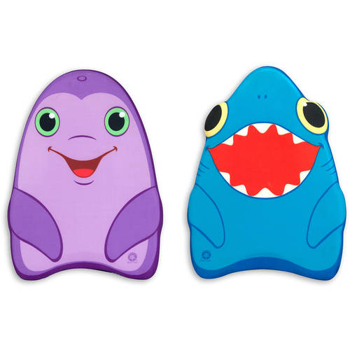 Melissa & Doug Sunny Patch Dolphin and Shark Kickboards, Learn-to-Swim Pool Toys, Set of 2