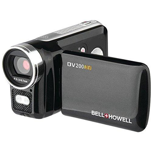 Bell & Howell ELBDV200HDB Bell & Howell DV200HD Digital Camcorder, 1280 x 720p HD Video Resolution, 4x Digital Zoom