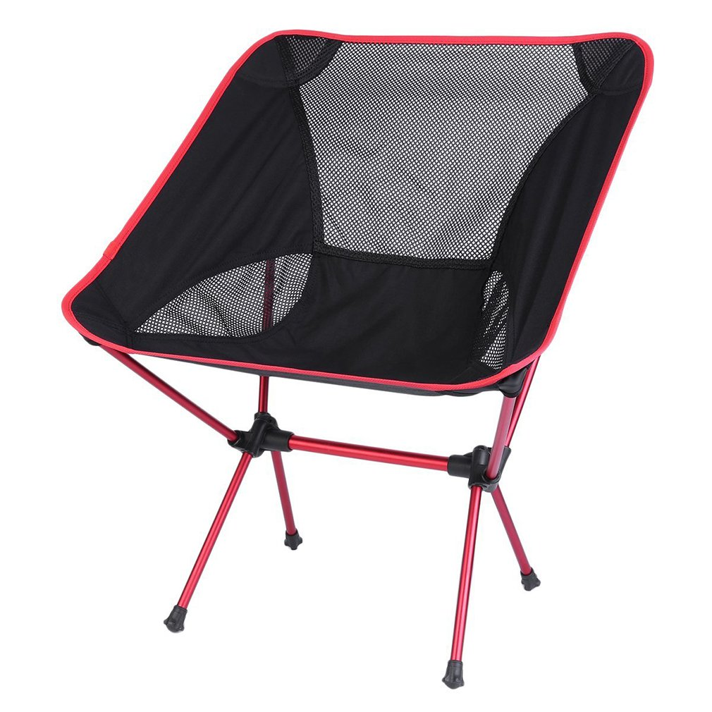 Heavy Duty Portable Folding Patio Chair for Outdoors Camping Chair Red