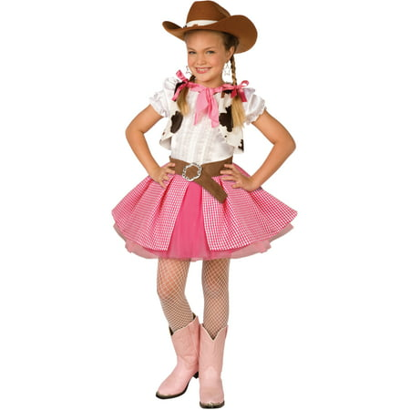 Girls Cowgirl Cutie Wild West Cowgirl Costume](Wild West Saloon Girl)