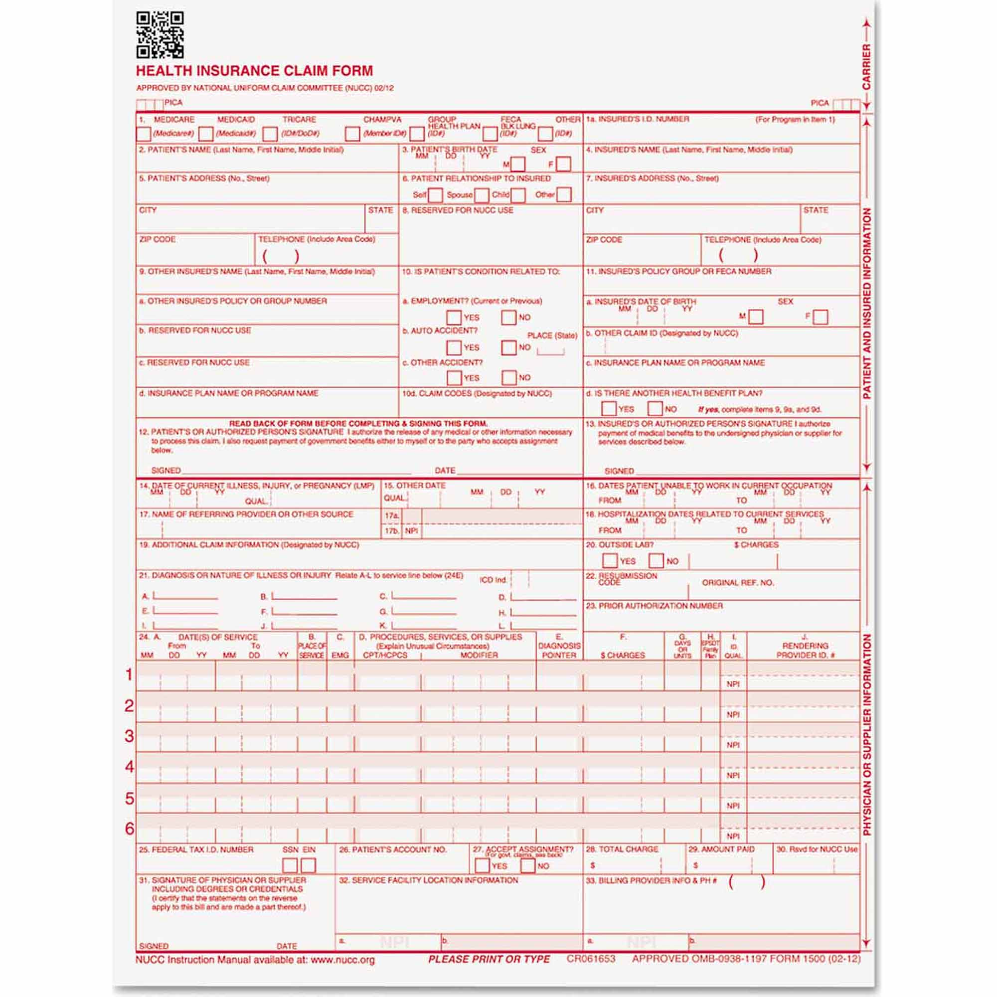 "Paris Business Products CMS Forms, 8.5"" x 11"", 500/Ream"