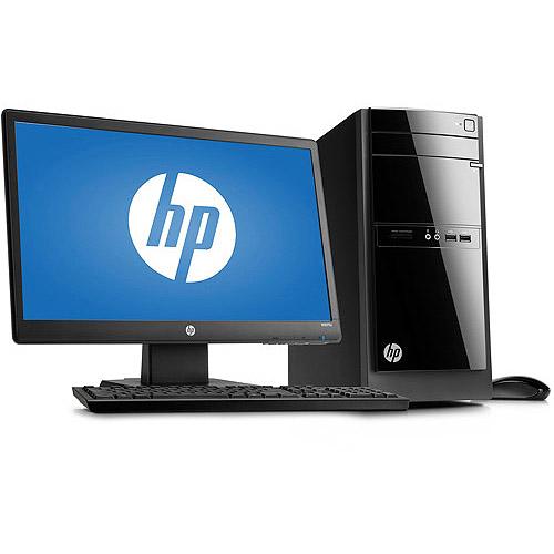 "HP Black 110-023 Desktop PC Bundle with Intel Pentium G2020T Processor, 8GB Memory, 20"" Monitor, 1TB Hard Drive and Window 8 Operating System"