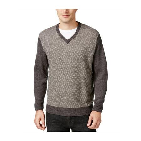 Weatherproof Mens Diamond Pullover Sweater darkgreymarl XL - image 1 of 1