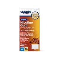 Equate Nicotine Gum Stop Smoking Aid, Cinnamon Flavor, 2 mg, 20 count