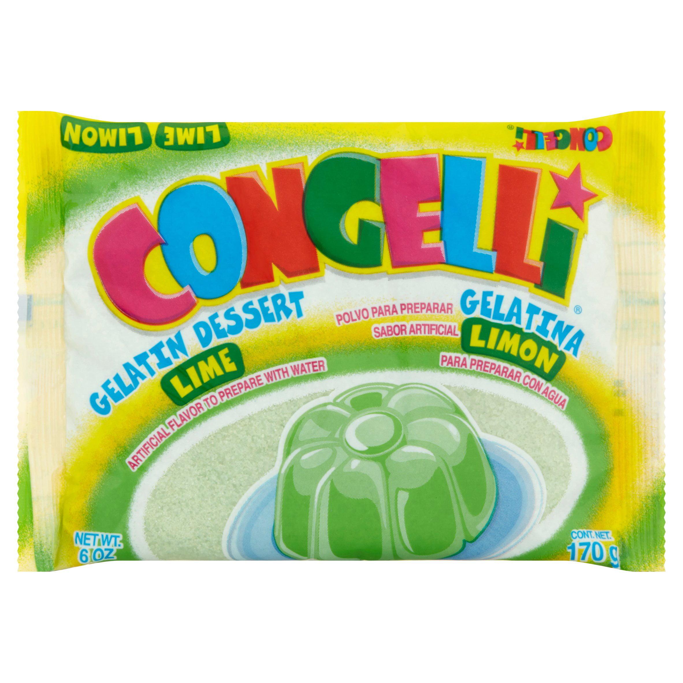 (5 Pack) Congelli® Lime Water Based Gelatin Dessert 6 oz. Pack