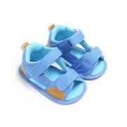 Wassery Baby Boys Canvas Sandals Soft Sole Breathable Denim Open-Toe Beach Shoes 0-18M