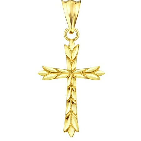 077 Kovacs Pendant - Handcrafted 10kt Gold Leaf Charm Pendant
