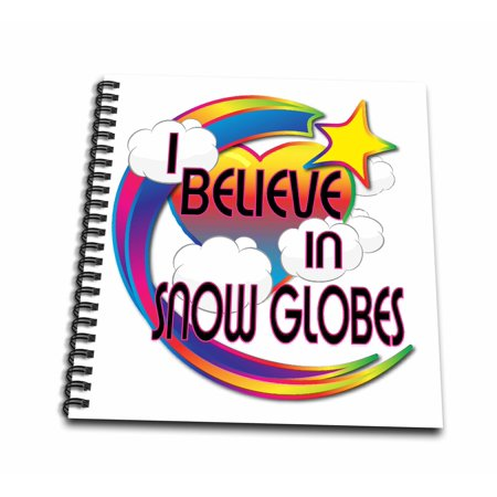 3dRose I Believe In Snow Globes Cute Believer Design - Mini Notepad, 4 by 4-inch