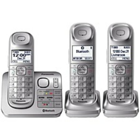 Refurbished Panasonic Link2Cell KX-TGL463S Bluetooth/DECT 6.0 1.90 GHz Cordless Phone - Silver - 1 x Phone Line - 3 x Handset - Speakerphone - Answering Machine - Hearing Aid
