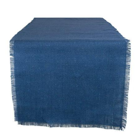 DII Nautical Blue Jute Table Runner, 15x48