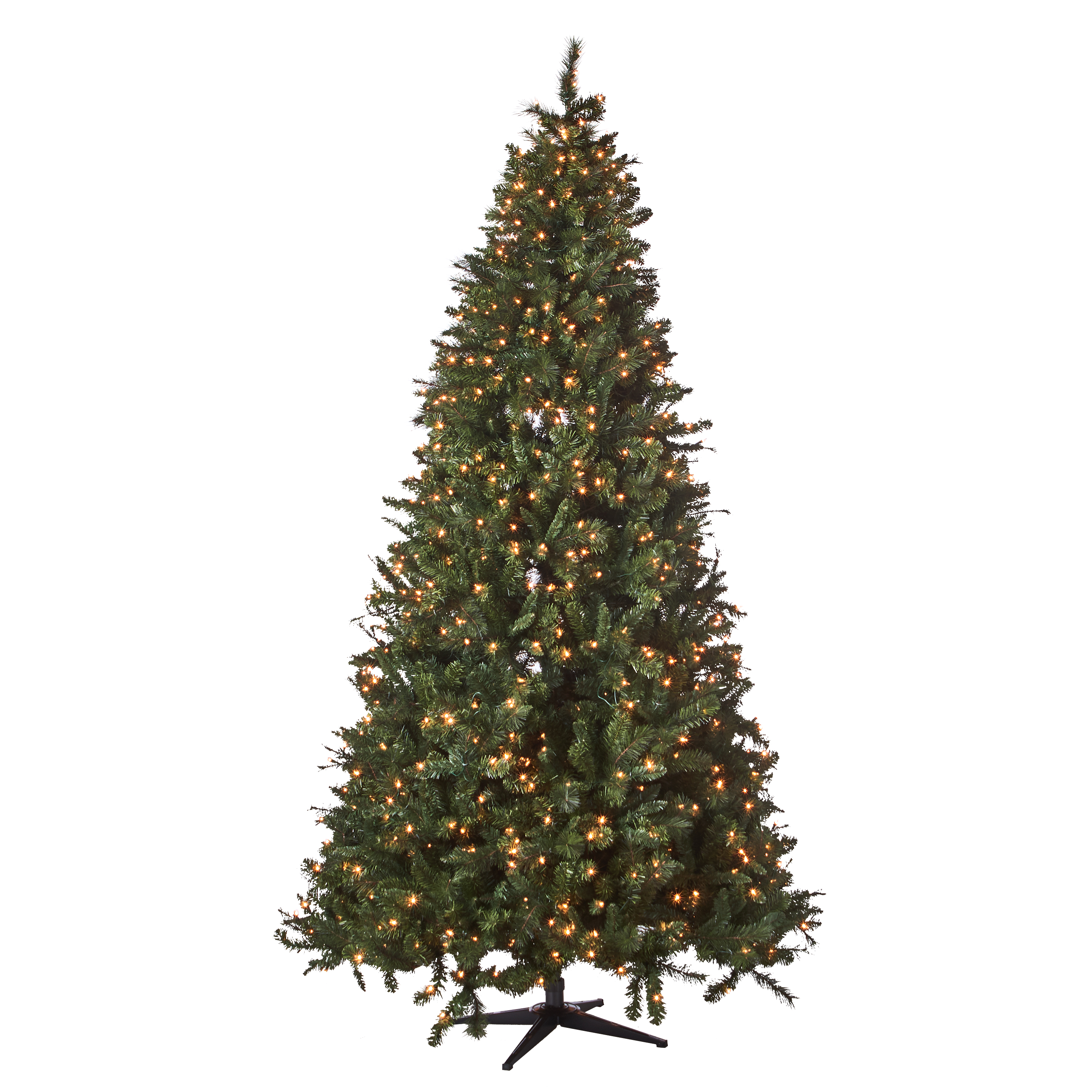 Holiday Time 9ft Pre-Lit Woodlake Spruce Artificial Christmas Tree with 1050 Clear Lights - Green
