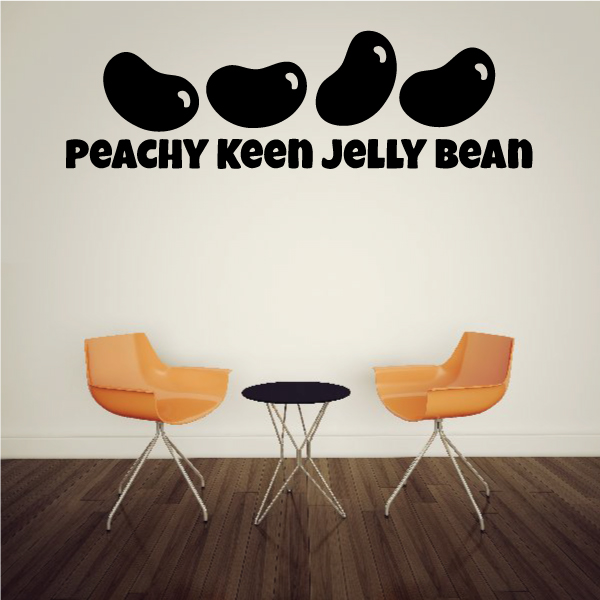 Peachy Keen Jelly Bean Wall Decal   Vinyl Decal   Car Decal   Vd002   36  Inches   Walmart.com