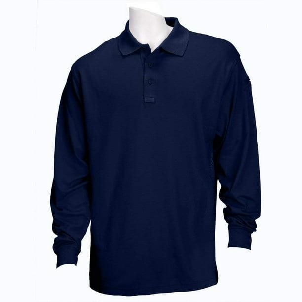 Performance Long Sleeve Polo Shirt, Black