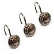 Excell Bullseye shower curtain hooks, 12 piece set, Oil Rubbed Bronze