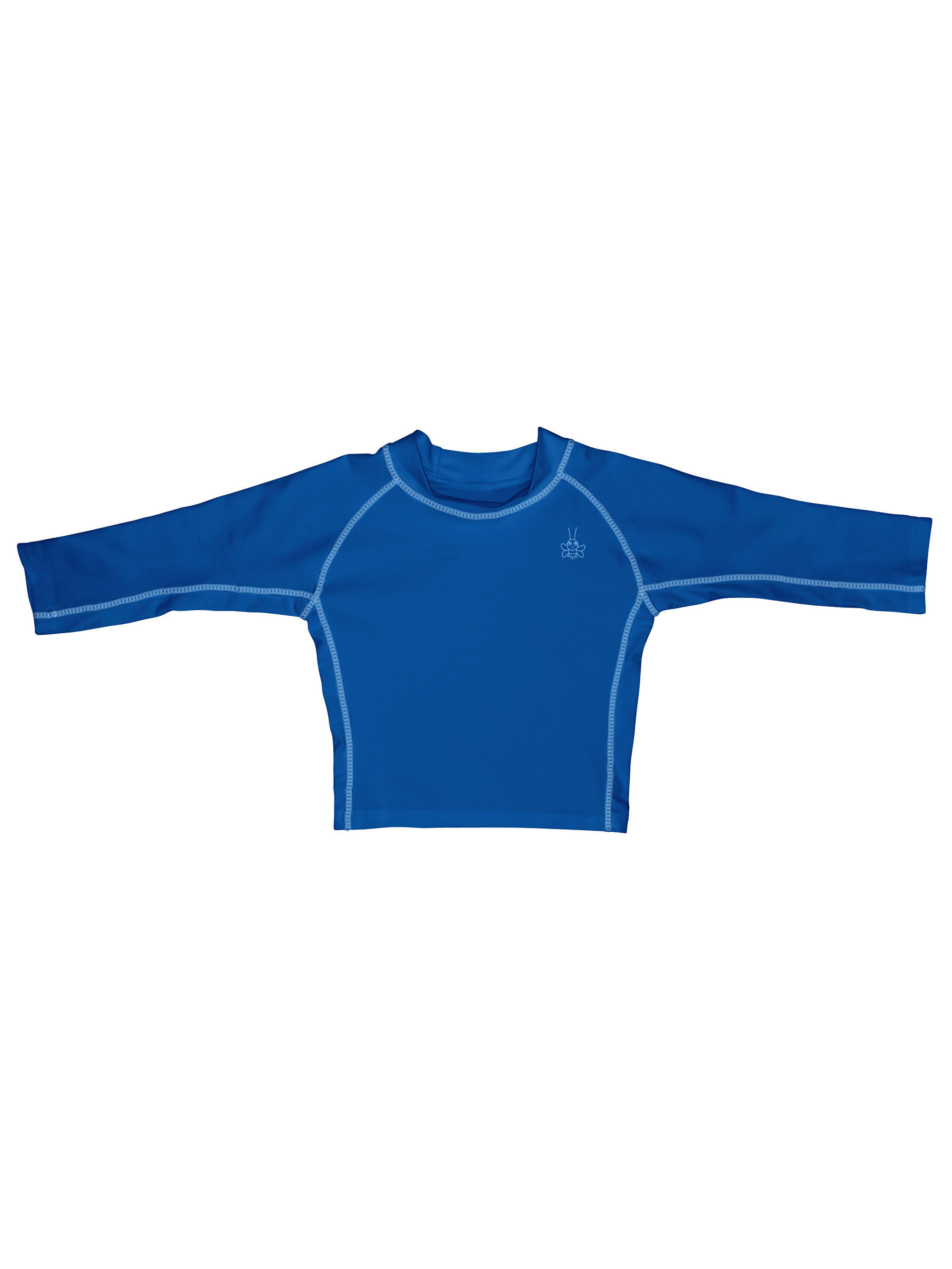 Iplay Long Sleeve Rashguard Top, Swim Shirt or Sun Shirt for Best Sun Protection Rash Guard UPF 50+ Solid Color T-Shirt for Baby Boys Blue - For Babies and Infants 12 Months
