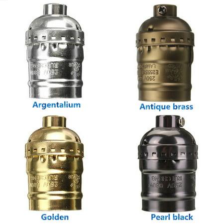 Kingso Retro Lighting Edison Bulb Aluminum Shell E27 Screw Lamp Holder 110-220V NEW