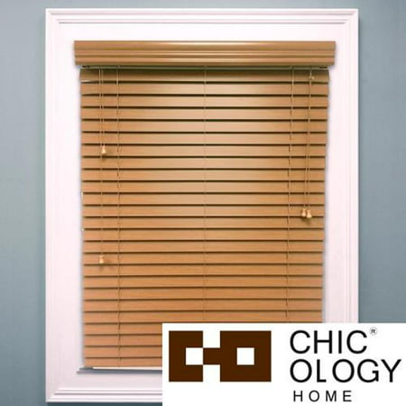 Chicology Faux Wood Blind Durable 2 Inch Slats Detailed