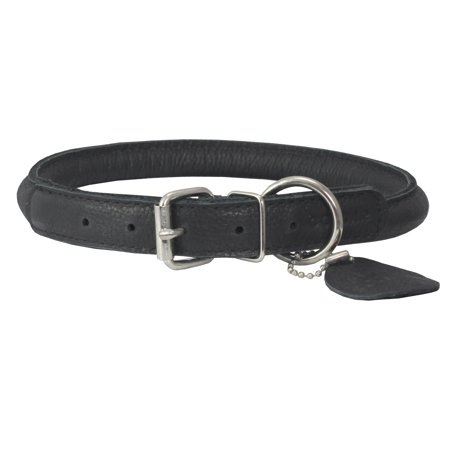 High Quality Genuine Leather Rolled Dog Collar 15