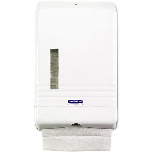 Kimberly Clark 06904 KLEENEX SLIMFOLD Towel Dispenser, 8 7/8 x 2 3/4 x 14 3/8, White