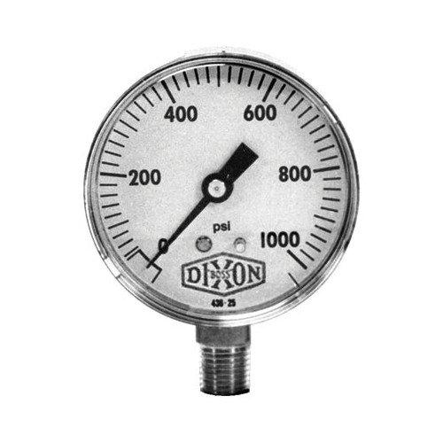 Dixon Valve Standard Dry Gauges - 2 1/2'' steel lm dry gaug