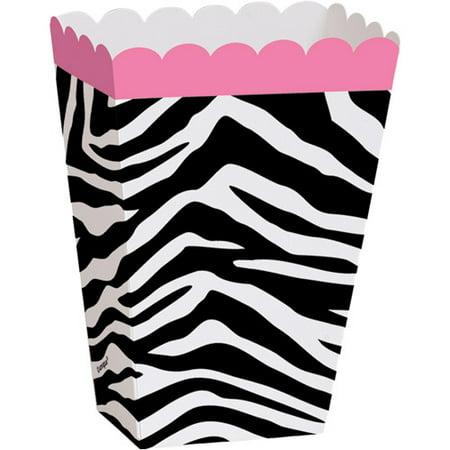 Zebra Print Favor Boxes, 8pk - Zebra Print Decorations