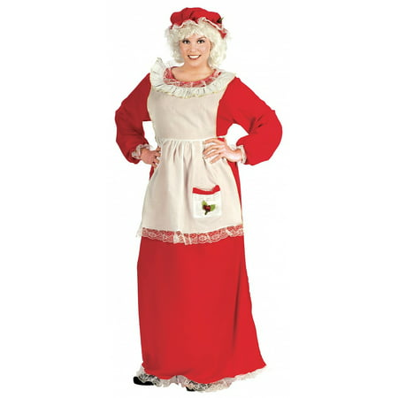 Mrs. Claus Adult Costume - Plus Size - Traditional Mrs Claus Costume