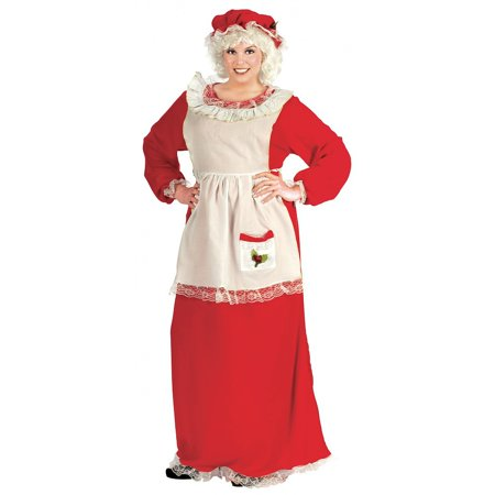 Mrs. Claus Adult Costume - Plus Size 1X/2X - Mrs Santa Claus Costume
