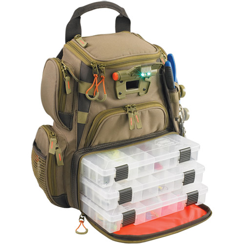Click here to buy Wild River Tackle Tek Recon Lighted LED Tackle Backpack with 4 Trays by Wild River.