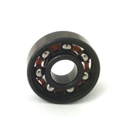 Chrome Steel 608B Miniature Open Ball bearing with Nylon Cage 8x22x7mmm Cage Open Ball Bearings