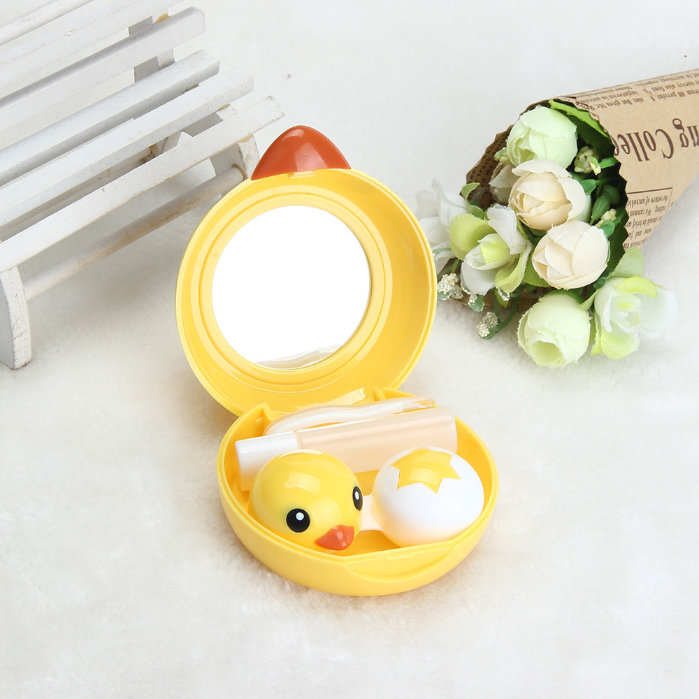 Womail Popular Mini Contact Lens Case Box Travel Kit Easy Carry Mirror Container