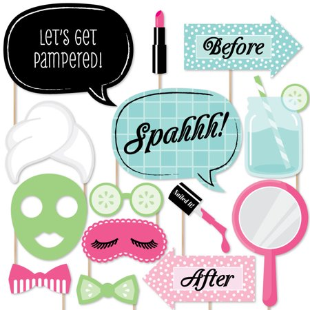Spa Day - Photo Booth Props Kit - 20 Count (Diy Photo Props)