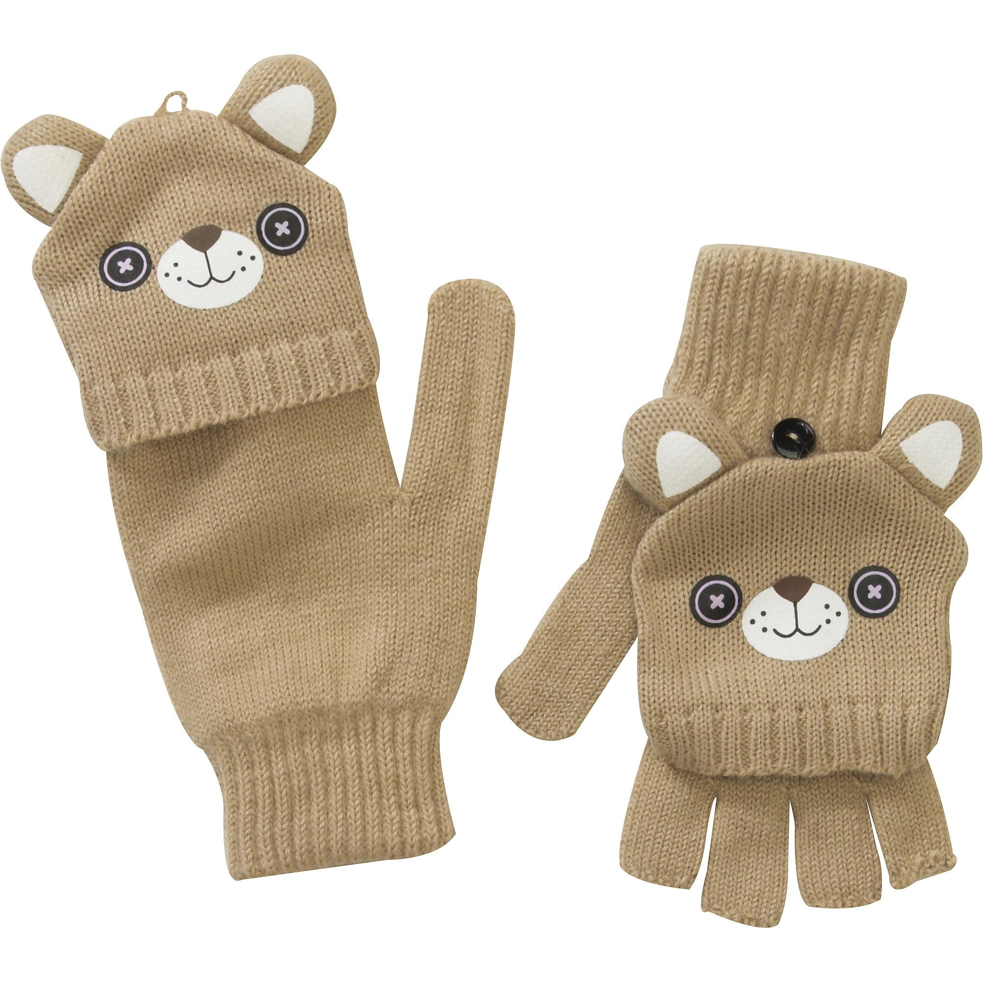 Adult Cat Flip Top Gloves