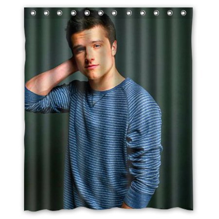 Deyou Josh Hutcherson Shower Curtain Polyester Fabric Bathroom Shower Curtain Size 60X72 Inches